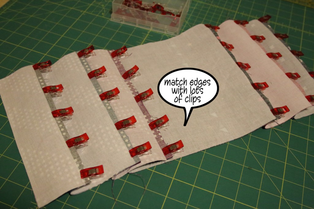 match edges with lots of clips