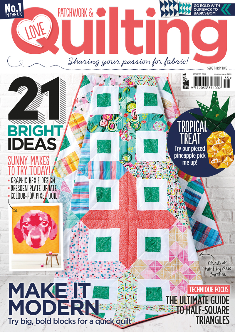 My First Quilt Magazine Cover!!